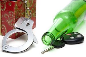 beer bottle, keys, cuffs, ornate box
